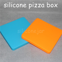 $enCountryForm.capitalKeyWord Australia - 200ml square flat silicone custom containers for wax Novelty Pizza Concentrate Jar silicone wax jar Silicon Square Container Dabber Tools