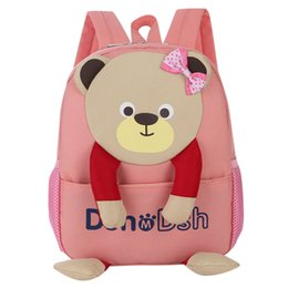 best christmas gifts for babies NZ - Baby Boys GirlsBag Bear Pattern Cartoon Backpack Toddler School Bags backpack Canvas for kids best gift cute book Mochila 2018