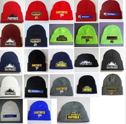 Skull ball capS online shopping - Fortnite Knitted Hats Royale Beanie Winter Warm Skull Cap Fedora Crochet Hat Hip Hop Knitting Caps Outdoor Beanies Ball Caps GGA1320