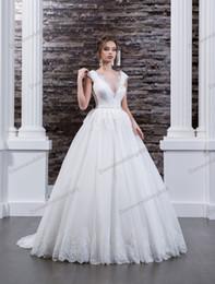 Natural Beauty Pageants Dresses NZ - Beauty White Tulle Lace Applique A-Line Garden Wedding Dresses Bridal Pageant Dresses Wedding Attire Dresses Custom Size 2-16 ZW610105
