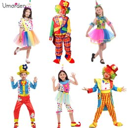 Tv Clothes NZ - id army clothes Umorden Halloween Costumes Kids Children Big Top Circus Clown Costume Naughty Fancy Fantasia Infantil Cosplay for Boys Gi...