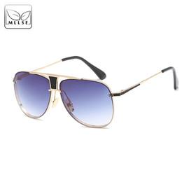 Chinese  Original MLLSE Brand Sunglasses For Men and Women UV400 Mirror Kim Kardashian Ladies' Sun Glasses Metal Frame Unisex Sunglasses manufacturers