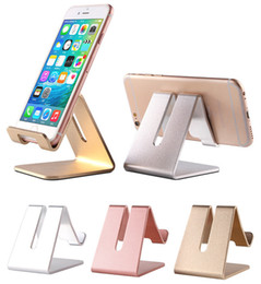 $enCountryForm.capitalKeyWord NZ - Universal Aluminum Metal Mobile Phone Tablet Holder Desk Stand for iPhone X 8 7 iPad Samsung S8 S9 Plus Huawei XiaoMi With Retail Package