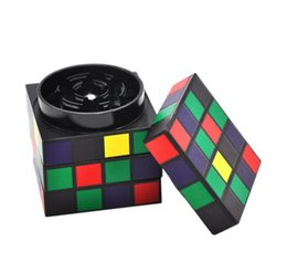 Cube diameter online shopping - The new magic cube cigarette mill creative personality aluminum alloy smoke cutter diameter mm four layers rotating magic cube smooth