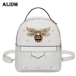 f65f923042479a Brand Bee Pu Leather Backpack Women Rivet Backpacks For Girls School Bags  Travel Backpack Women Bag Female Fashion 2018
