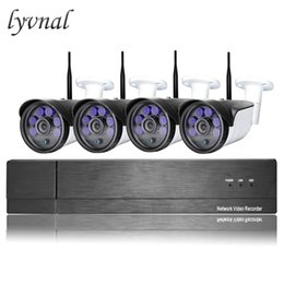 Discount 4tb hdd - LYVNAL h.265 2mp wifi camera system kit 4ch wireless Security ip camera sony 1080p with 8ch nvr kit 1tb 4tb hdd p2p wifi
