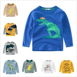 7497ff00c24ec8 Cheap Baby Boys Kids Cotton Long Sleeve Tops Tees Dinosaur T-shirts Clothing  For Spring Autumn 90cm-140cm