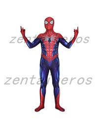 $enCountryForm.capitalKeyWord Australia - All-New Spiderman Superhero Spandex Lycra Zentai Bodysuit Halloween Cosplay Party suit