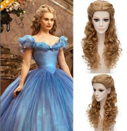 anime long wigs 2018 - 2018 Female periwig synthetic front lace wig princess long curly hair game anime braided hair african american female di