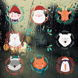 Bathroom Wall Sticker Quotes Australia - Faroot Merry Christmas Quote Wall Decals Glass Window Santa Clause Rreindeer Bear Removable Window Stickers Decor Kids Art Mural