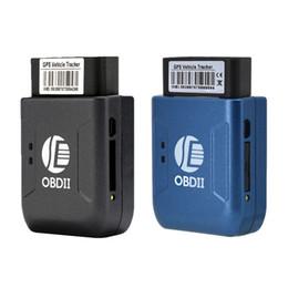 Quad Gsm Alarm Australia - 5pcs a lot GPS TK206 OBD 2 Real Time GSM Quad Band Anti-theft Vibration Alarm GSM GPRS Mini GPRS Car Tracker