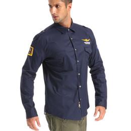 El más nuevo de gran tamaño de la fuerza aérea una camisa de los hombres de  la marca de algodón casual entusiastas militares bordado MA1 de manga larga  Slim ... 3594e6f87a9