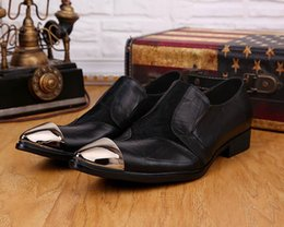 $enCountryForm.capitalKeyWord Canada - 2018 Leather Dress Shoes Limited Edition Soft Leather Man's Shoes Leather Flats Man Pinted Steel Toe Business Flats