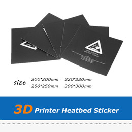 printer for stickers UK - 5pcs Black Color 200*200 Plastic 3D Printer Accessories Hot Bed Stickers For Wanhao i3 3D Printer