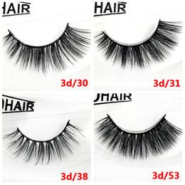 Making False Eyelashes Australia - Thick Mink 3D hair false eyelashes makeup accessories hand-made reusable mink lashes 12 styles available DHL Free fake lashes YL011