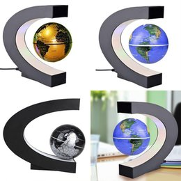 Magnetic levitation floating globe world map australia new novel c shape blue led world map decor home electronic magnetic levitation floating globe antigravity led light gift decoration gumiabroncs Choice Image