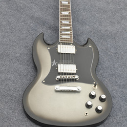 Chinese  Silver burst electric guitar Shop ave more style The new handmade remains SG electric guitar Black Hardware Custom manufacturers