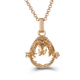 $enCountryForm.capitalKeyWord Australia - Oval Flower Necklace Pregnant Woman Melody Bead Pendant Lockets 2018 Fashion Jewelry Perfume Essential Oil Diffuser Pendant DIY Accessories