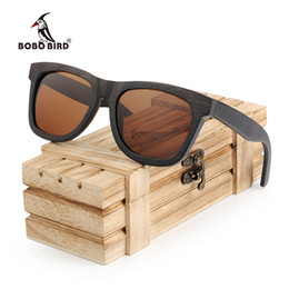 China BOBO BIRD Polarized Eye-Protective Goggles Classic Men Sun Glasses Ebony Wood Frames Eyeglasses Women Sunglasses Pouch Drop Shipping in Gift suppliers