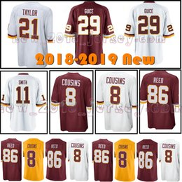 Washington Redskin Men s Jersey 29 Derrius Guice 21 Sean Taylor 11 Alex  Smith 86 Jor Reed Whire Red Limited Jerseys 05f043c99