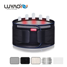 Wholesale LUYAO Lumbar Support Brace Breathable Mesh Four Steels Plate Protection Back Waist Support Belt for man woman Plus size