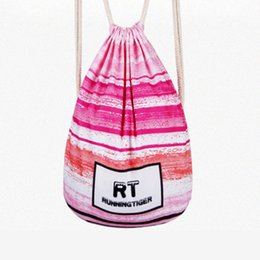 Cloth Bouquet Australia - Ruique Women Fashion Cloth Bag Drawstring Colorful Printing Bouquet Pocket Backpack Girls Simple Casual Mini Drawstring Bag