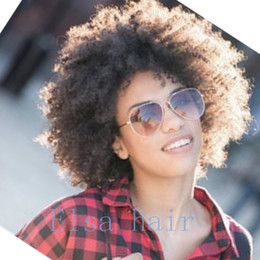 cheap afro full lace wigs NZ - Kinky Curly Hair 8A Natural Deep Curl Full Lace Wig Malaysia Afro Kinky Curly Lace Wig Soft And Thick Cheap Human hair