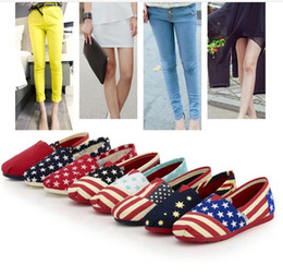 a0f9d53b5eb8 Casual Canvas shoes flag online shopping - National Flag Printed Canvas  Slip On Flats Couple Boat