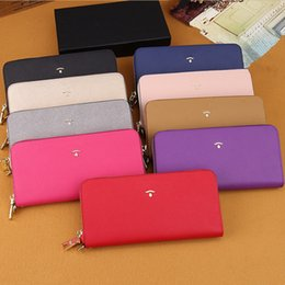 Luxury designer waLLet case online shopping - Famous Brand Makeup Bags Purse Clutch for Women Luxury Designer Genuine Leather Wallets Fashion Cosmetic Bags Ladies Phone Card Holder Case