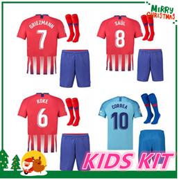 eaca43da3 2018 2019 Atletico Madrid kids kit soccer jersey third Lemar Correa 18 19  GRIEZMANN DIEGO COSTA home away SAUL KOKE 3rd football shirts jersey diego  costa ...