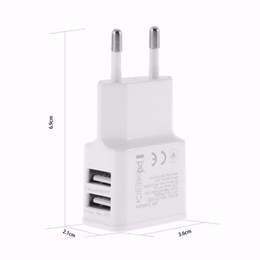 iphone dock white NZ - 5V 2A EU US Plug Dual USB 2 Port Mobile Phone Travel Home Wall Charger Adapter 2A For Samsung iPhone LG HTC Sony White Black 100pcs