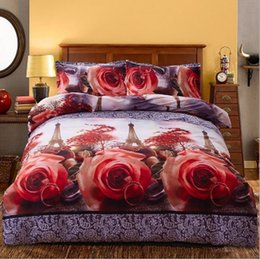 Crib Decorations Canada - 3D Double Single Size Bedding Set Polyester Quilt Duvet Cover Pillowcases Set Bedroom Decoration Home Textiles Accessories