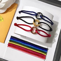 StainleSS bracelet for man hand online shopping - New style Round Hollowed out flower rope Bracelet four leaf flower hand strap couple bracelets for women and men fashion jewwelry top brand