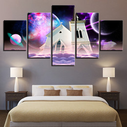 Art Church Australia - Canvas HD Prints Poster Home Wall Art Framework 5 Pieces Church Jesus Christ Painting Abstract Planet Pictures Living Room Decor