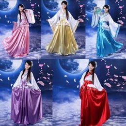3307af6d0 Traditional Hanfu Cosplay Clothing Women's Ancient Tang Dynasty Empress  Dress Red White Yellow Women Chinese Ancient Costume