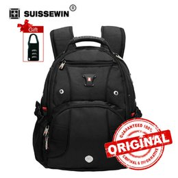 """Discount male laptop bags - Laptop Backpack 15"""" Computer Bag for Business Travel 30L Male Backpack SW9906 Black back pack sac a dos bagpack SW9"""