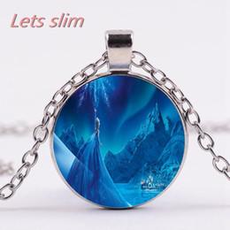 $enCountryForm.capitalKeyWord Australia - Snow Fairy Magic Round Pendant Necklace glass jewel Necklace sweater chain