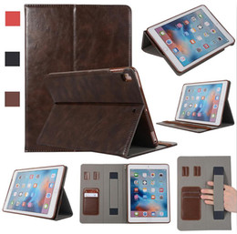 Leather Case Ipad Mini Brown NZ - PU Leather Case Touch Pencil Strap Card Slot Kickstand Cover For iPad 5 6 7 8 Air pro 9.7 10.5 11 12.9 mini 1 2 3 4 Samsung T830 Tab S4 Opp