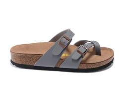 новый 805 Майяри Аризона Гизех улица лето Мужчины Женщины розовые квартиры сандалии пробка тапочки унисекс песчаный Беа повседневная обувь печати смешанный размер 34-45