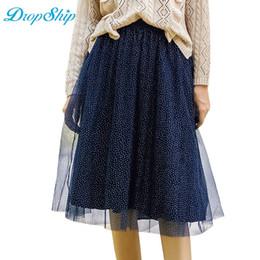 f03cdaf8b8e Discount blue pleated midi skirt - Dropship 2018 High Quality Elegant Tulle  Long Pleated Skirt Women
