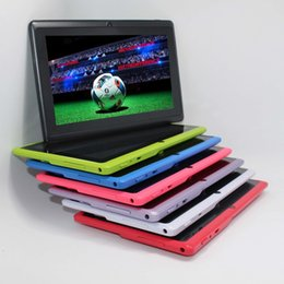 Discount q88 tablet pcs - Quad Core 7 inch tablet pc A33 Q88 III 7 Colors Android 4.4 allwinner RAM 512M ROM 4GB best gift pc
