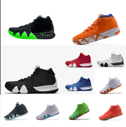 1ac567ff3af Mens Kyrie Irving IV shoes Halloween Black Green Lucky Charms Team Red  March Madness USA White Wheat Tan new 4s sneakers with box for sale