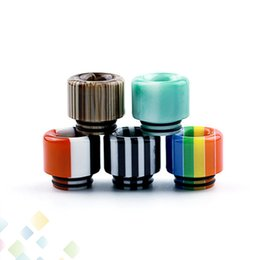 $enCountryForm.capitalKeyWord UK - Colourful Stripes 810 Drip Tip Epoxy Resin Drip Tips Mouthpiece for TFV8 TFV12 Prince Tank Atomizers E Cig DHL Free
