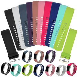 21cm bracelet NZ - mart Accessories ALLOYSEED Silicone Watchband Strap Band Replacement Smart Bracelet With Buckle Size S 21cm L 23cm For Fitbit Charge 2 Wa...