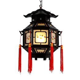 Waterproof chinese lanterns online shopping - OOVOV Chinese Style Palace Lanterns Chandelier Waterproof Indoor Outdoor Balcony Corridor Tea House Wood Pendant Lamp