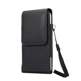 $enCountryForm.capitalKeyWord UK - For iPhone XR Luxury Leather Waist Belt Clip Pouch Phone Case Cover Bag Vertical Holster Card Slot Lanyard For iPhone XS  XS Max
