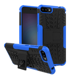 case armor zenfone UK - For Asus Zenfone 4 Selfie ZD553KL Zenfone Max Plus ZB570TL Case Hybrid Kickstand Rugged Heavy Duty TPU+PC Shockproof Armor Case Cover