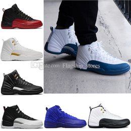 Blue Sky Game Canada - cheap 12 wool XII basketball shoes Flu Game wolf grey Gym red taxi gamma french blue Suede mens womens sneakers