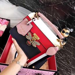 Pink sugao designer luxury handbags purses genuine leather 2018 famous designer  women handbags shoulder bags bee diamond tote crossbody bag 0ddbe5c957144