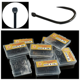 barbless hooks NZ - 100pcs 1box 3-10# Ise Hook High Carbon Steel Barbless Hooks Fishing Hooks Pesca Carp Fishing Tackle Accessories